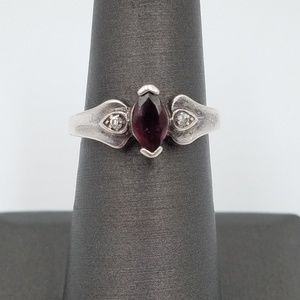 Jewelry - 925 Sterling Silver Purple Tourmaline Ring